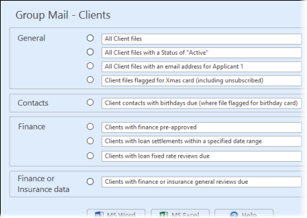 Group merge option for mass-mailing